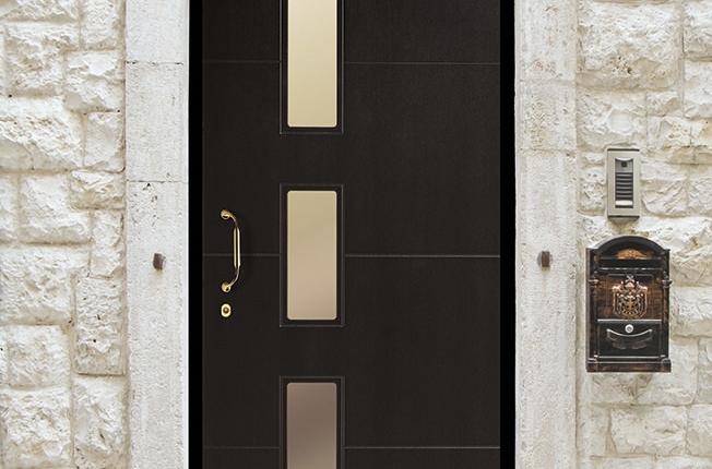 Porta Blindata Rivestimento Renolit modello moderno